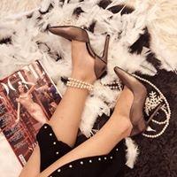 Pantofi stiletto, cu decupaj interior, din piele bronz 0