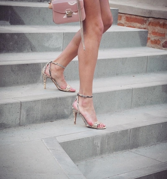 Sandale din piele piton galben 0