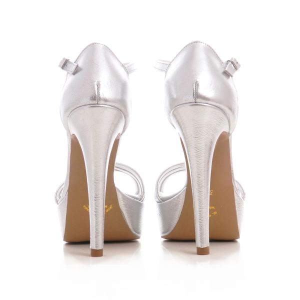 Sandale argintii, cu platforma 2