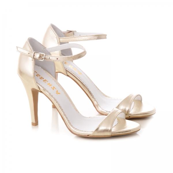 Sandale din piele aurie 1