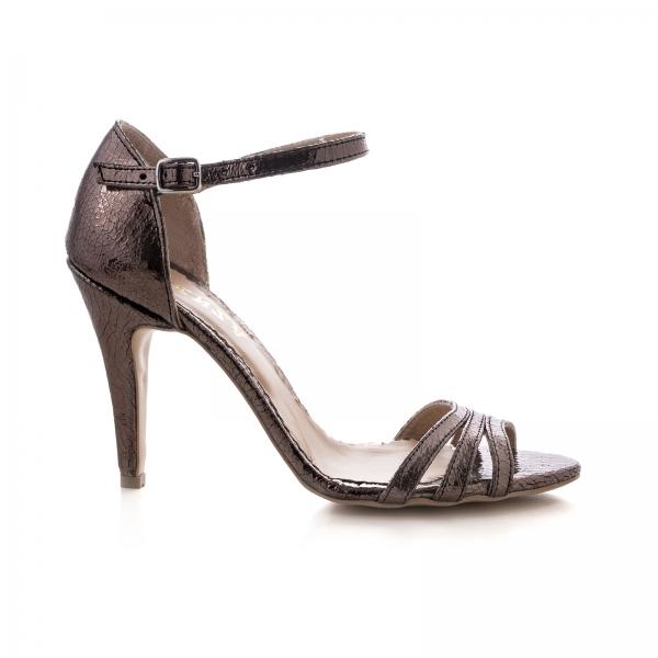 Sandale cu barete, din piele laminata bronz 0