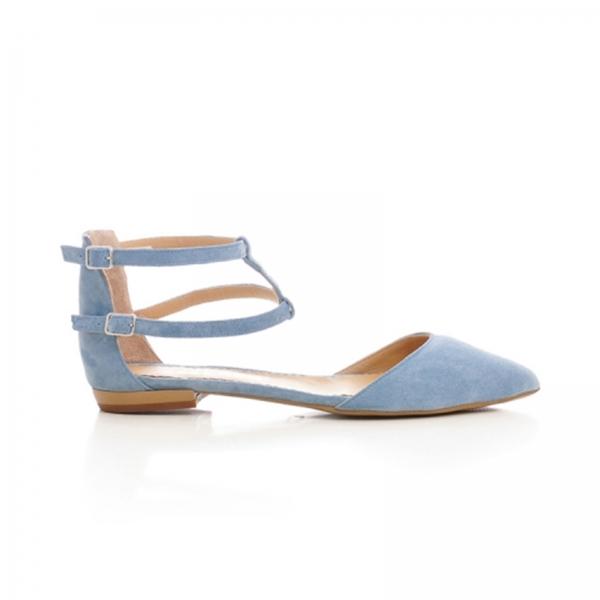 Sandale cu varf ascutit , albastru -seren 0