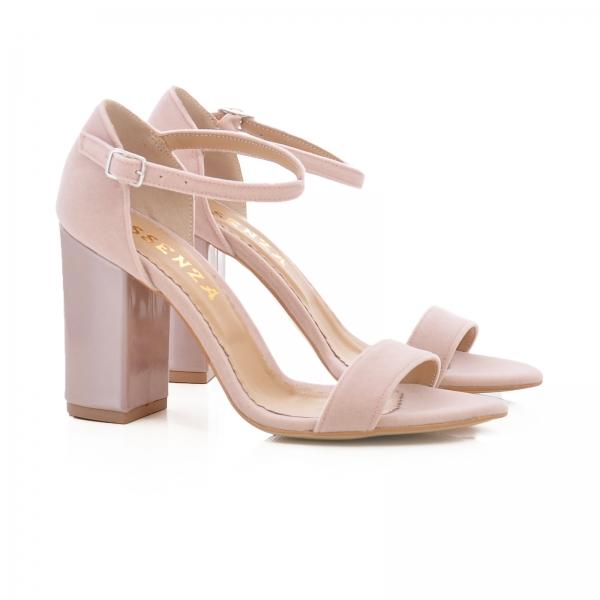 Sandale din catifea si piele lacuita 1