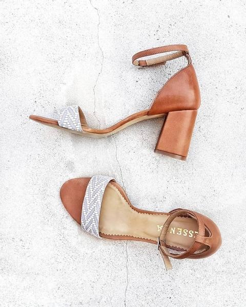 Sandale din piele maron 0